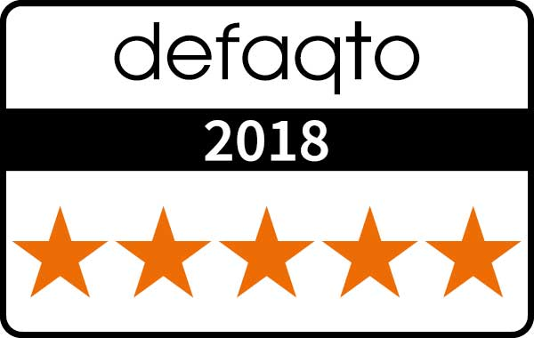 image of defaqto five star rating