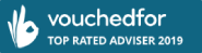 VouchedFor top rated adviser 2019